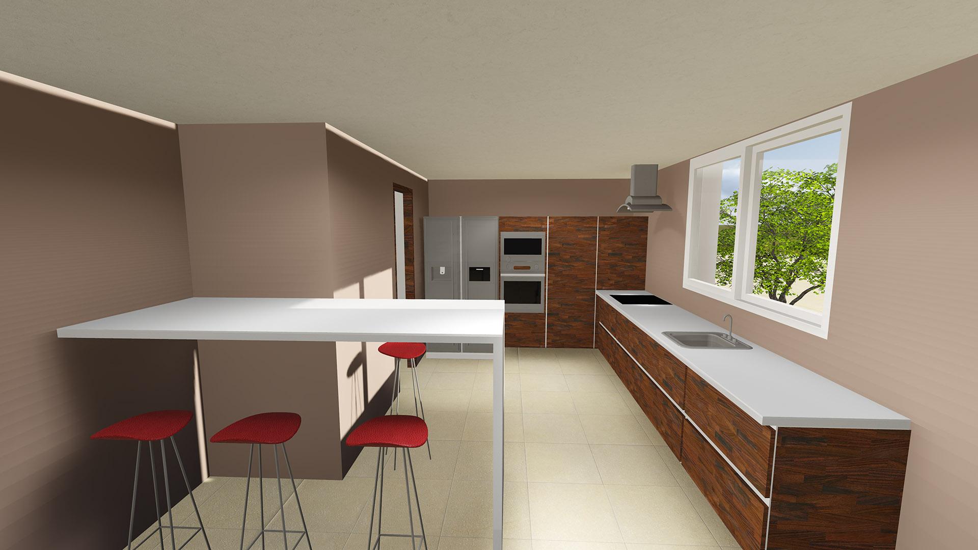 Edile arquitectura dise o 3d cocina for Diseno 3d cocinas online