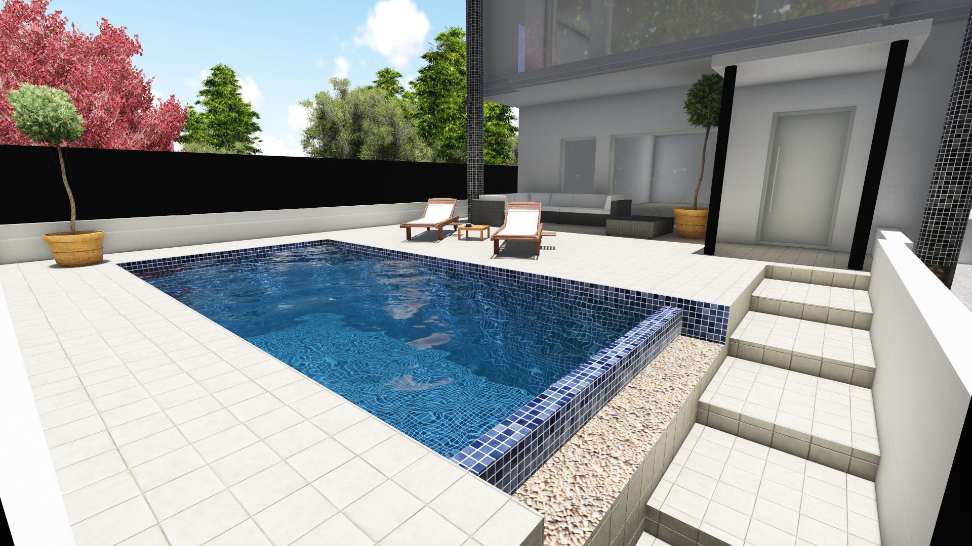 Edile arquitectura dise o 3d piscina for Programa diseno de piscinas 3d gratis